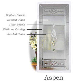 Entry Doors Aspen, Taylor Door Aspen glass selections