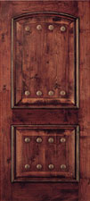 interior wooden 1-3/4 round rust doors, taylor door patina clavos doors