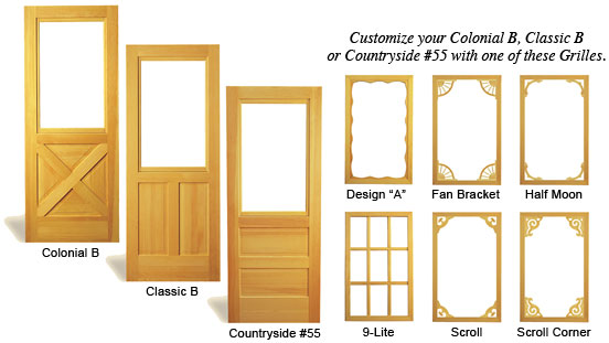 Merveilleux Wood Screen Doors