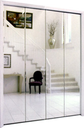 Elegant The Industryu0027s Finest Quality Bifold Door. The Mirror Is Laminated To A 24  Gage Pre Finished Steel Panel, Then Supported By Spot Welded Hinges And  Extra ...