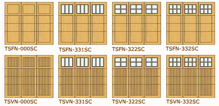 Garage Doors with Tri-Fold Look, Taylor Door Tri-Fold Look Doors